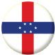 Netherlands Antilles Country Flag 25mm Flat Back